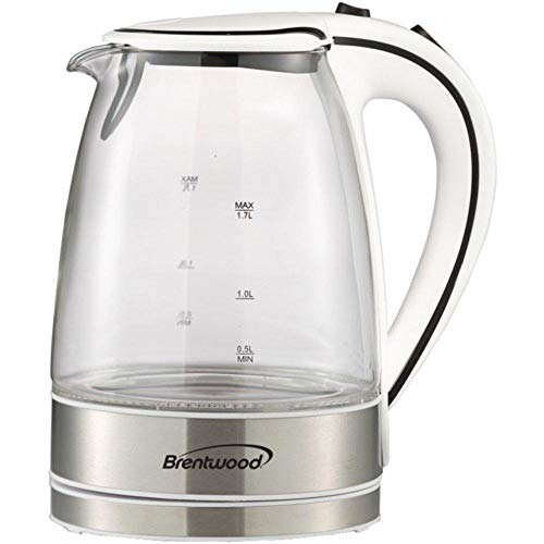 Brentwood KT-1900W 1.7-Liter Glass Electric Kettle