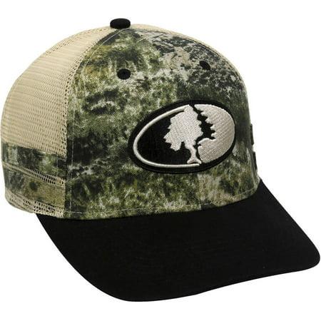 Mossy Oak Camo Mesh Back Cap, Mossy Oak Mountain Country Range Camo/Black, Adjustable Closure - Mossy Oak Mesh Cap