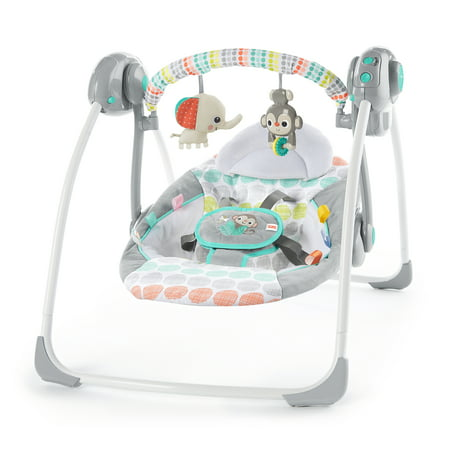 Bright Starts Whimsical Wild Portable Swing (Best Swing Bouncer Combo)
