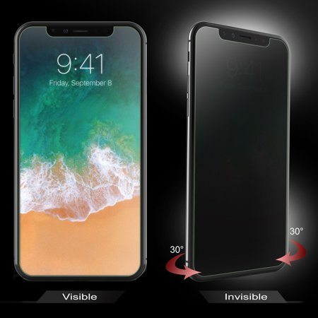 best sneakers f63ea e39fe Apple iPhone XS / iPhone X Screen Protector, by Insten Anti Spy Privacy  Plastic Screen Protector LCD Film Guard Shield for Apple iPhone XS / iPhone  X