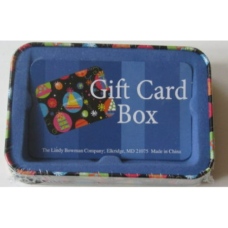 Tin Gift Card Holder Box Black Birthday