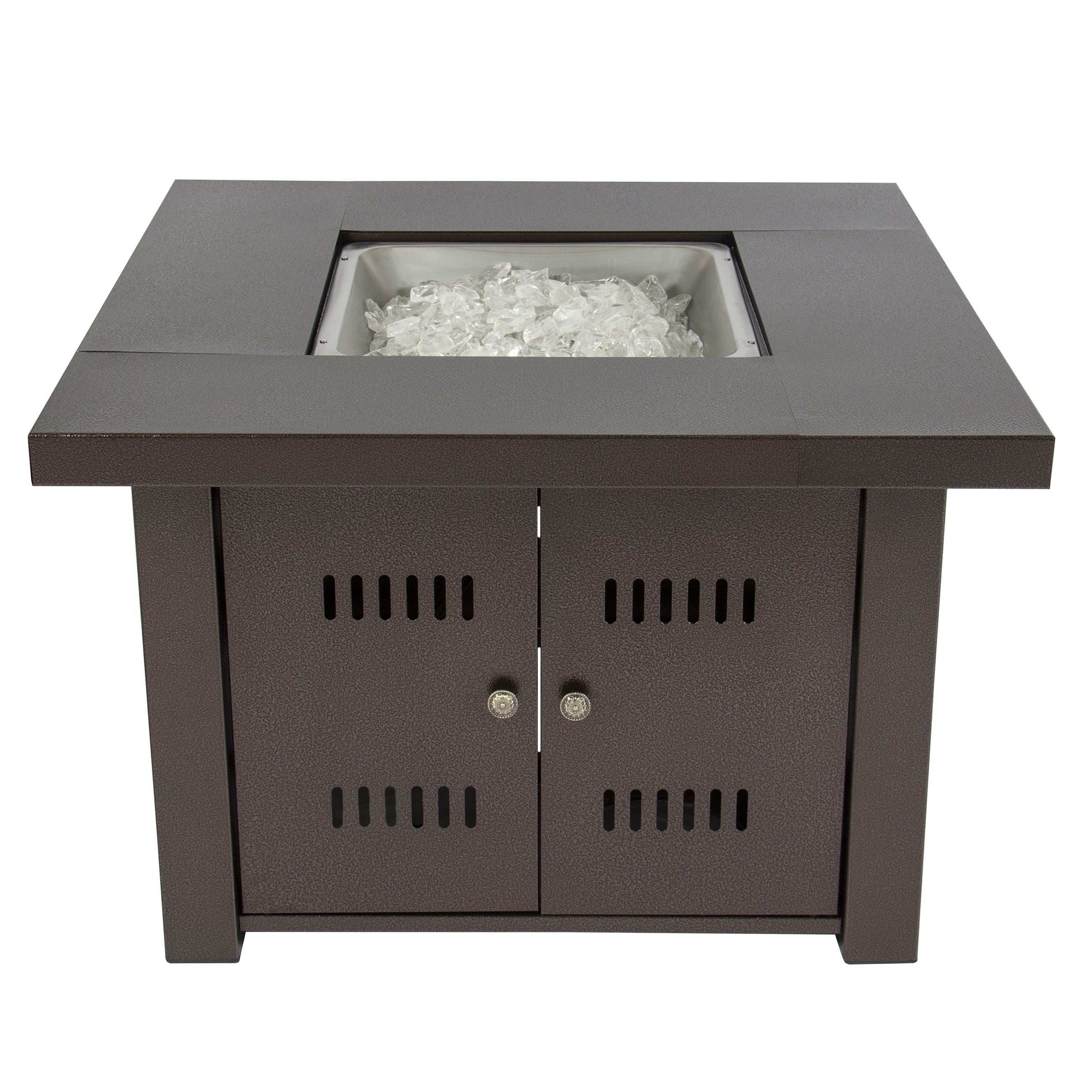 gas outdoor fire pit table with finish with cover walmartcom