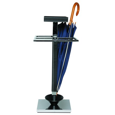 Kos Lighting Club Coat Stand, Chrome/Leatherette PFW100340829