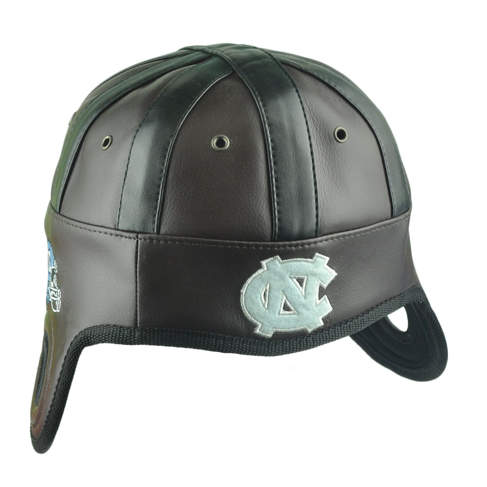 NCAA North Carolina Tar Heels Helmet Head Game Day Faux Leather Hat Cap UNC