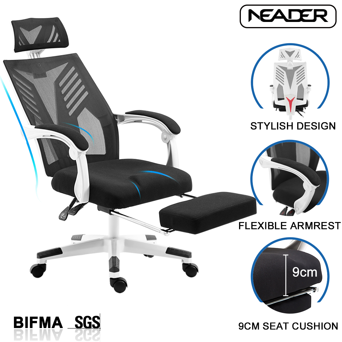 Ergonomic Mesh Office Chair High Back Computer Desk Task Chair
