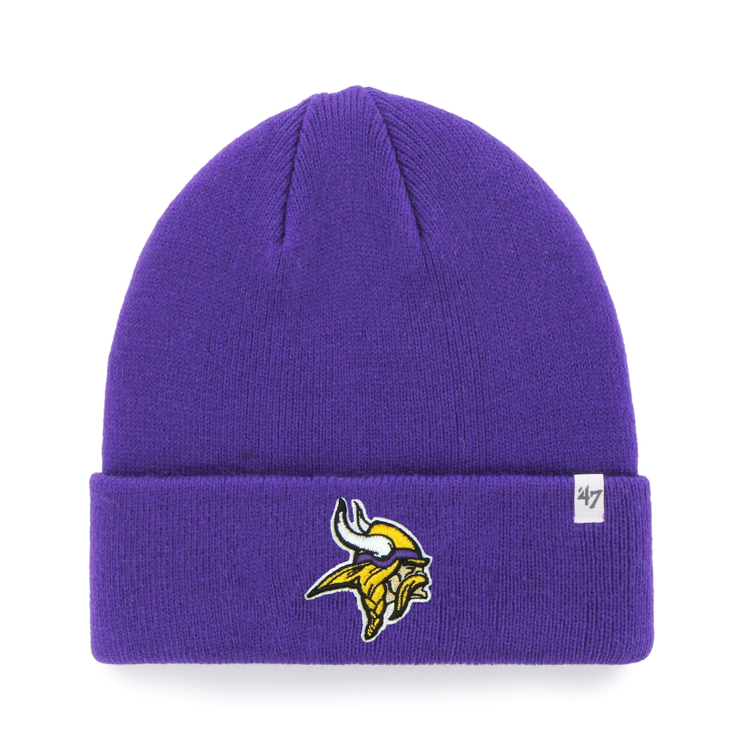 Minnesota Vikings NFL Raised Cuffed Knit Beanie 9e0f5b780