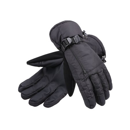 ANDORRA Men's Waterproof Thinsulate Touchscreen Winter Ski Gloves ,XL,Black