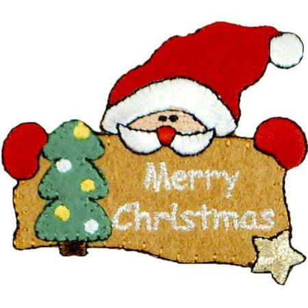 Expo Int'l Merry Christmas Santa Iron-on Applique ()
