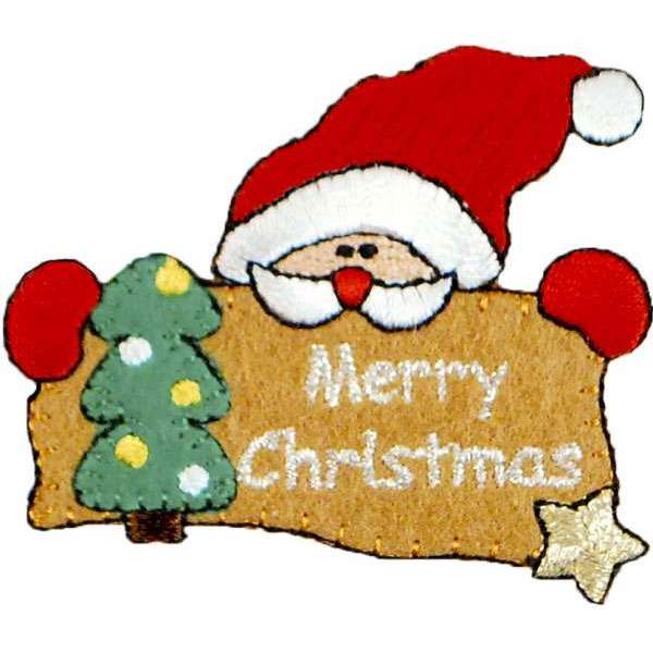 Expo Int'l Merry Christmas Santa Iron-on Applique