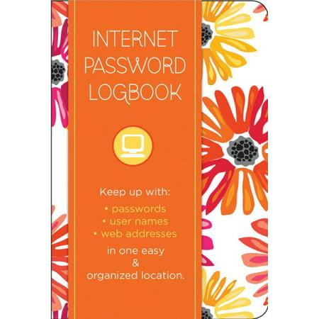 Internet Password Logbook   Botanical