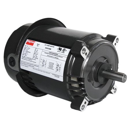 Dayton 1 3 hp jet pump motor capacitor start 3450 for Dayton capacitor start motor