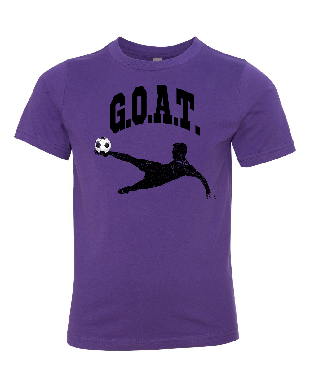 Greatest Of All Times G.O.A.T Soccer Youth Short Sleeve T-Shirt