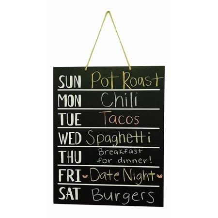 Chalkboard Menu (Wood Chalkboard Weekly Menu Meal Planner Wall)