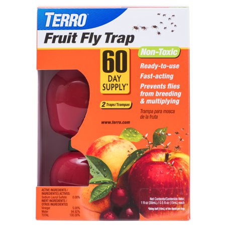 Terro Fruit Fly Traps, 2 ct (Best Thing To Kill Fruit Flies)