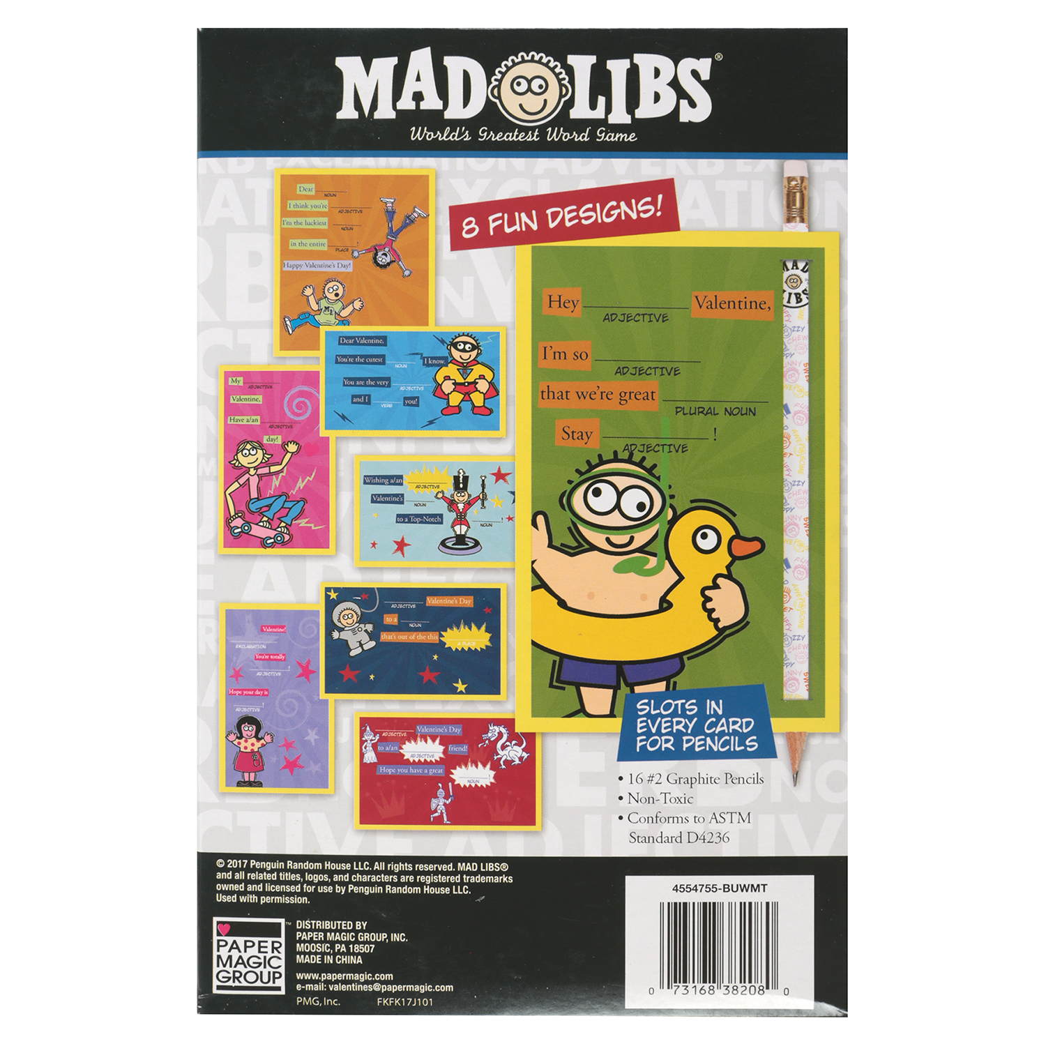 16ct mad libs valentine cards with pencils walmart m4hsunfo Gallery