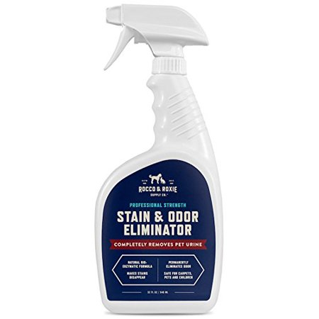 Rocco   Roxie Professional Strength Stain   Odor Eliminator   Enzyme Powered Pet Odor   Stain Remover For Dog And Cats Urine   32 Oz
