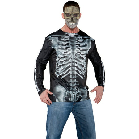 Photo-Real X-Ray Shirt Adult Halloween Costume - X Ray Halloween Costumes