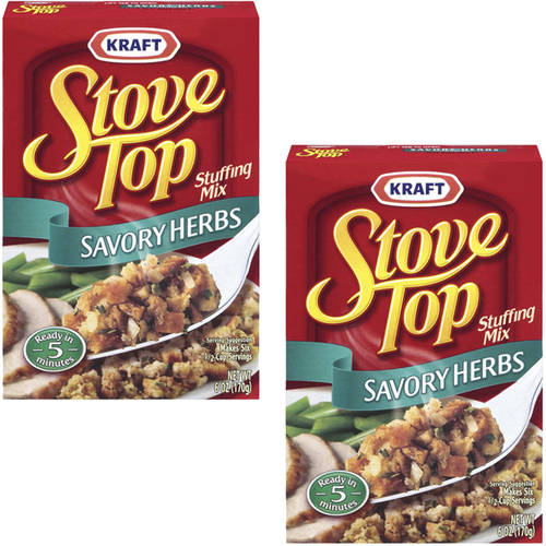 Kraft Savory Herbs Stove Top Stuffing Mix, 6 oz (Pack of 2)