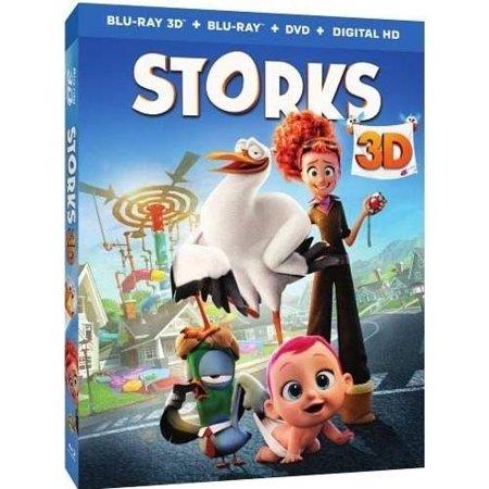 Storks  Blu Ray 3D   Blu Ray   Dvd   Digital Hd With Ultraviolet   Widescreen