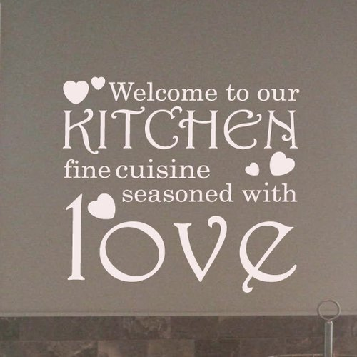 Fox Hill Trading Welcome to Our Kitchen Vinyl Wall Decal