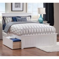 Pemberly Row Queen Storage Platform Bed in White
