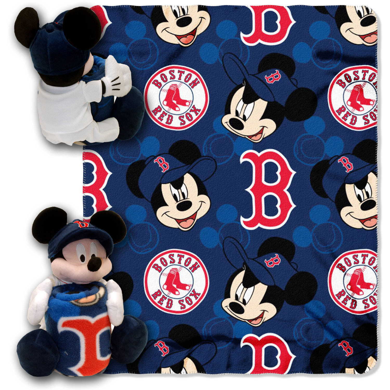 "Disney MLB Boston Red Sox Pitch Crazy Hugger Pillow and 40"" x 50"" Throw Set"