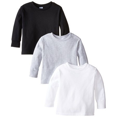 Toddler Clementine Long Sleeve Basic T-Shirt (Pack of 3)