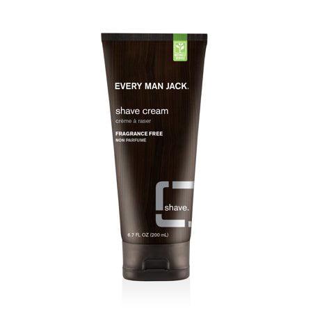 (2 Pack) Every Man Jack Sensitive Skin Shave Cream, Fragrance Free, 6.7