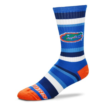 Florida Gators For Bare Feet Rainbow Stripe Tri-Blend Crew Socks - L