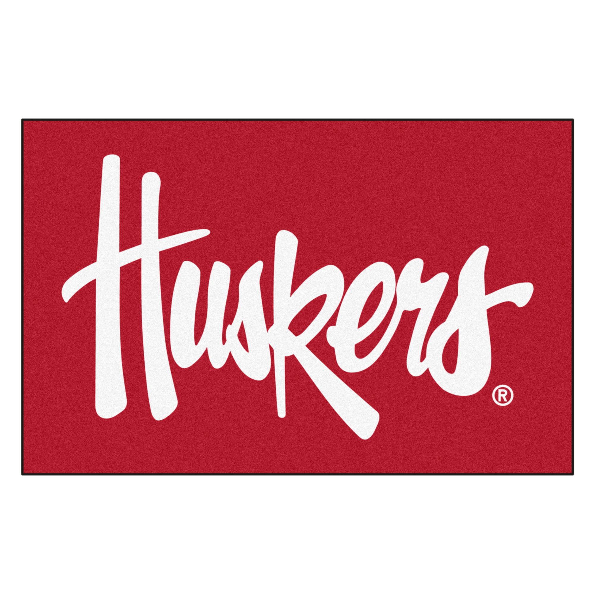 """Nebraska Huskers Starter Rug 19""""x30"""""""