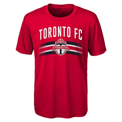 MLS Toronto Fc Boys Performance Short Sleeve Tee, Small/Size 8, Red