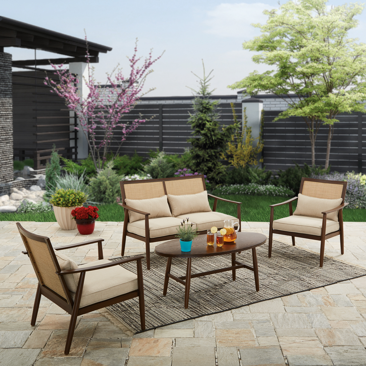 Better Homes and Gardens Vaughn 4-piece Outdoor Conversation Set