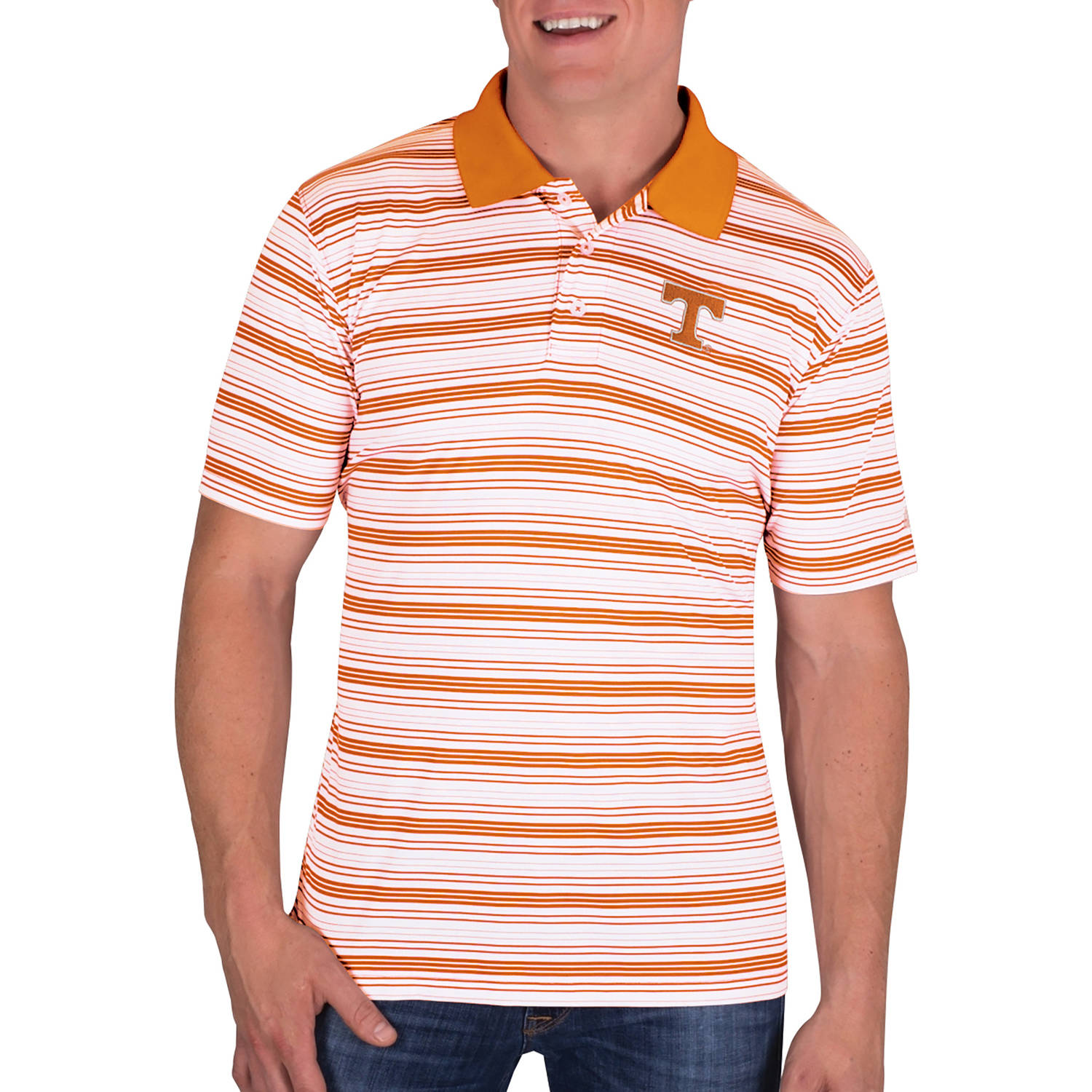 NCAA Tennessee Volunteers Men's Classic-Fit Striped Polo Shirt