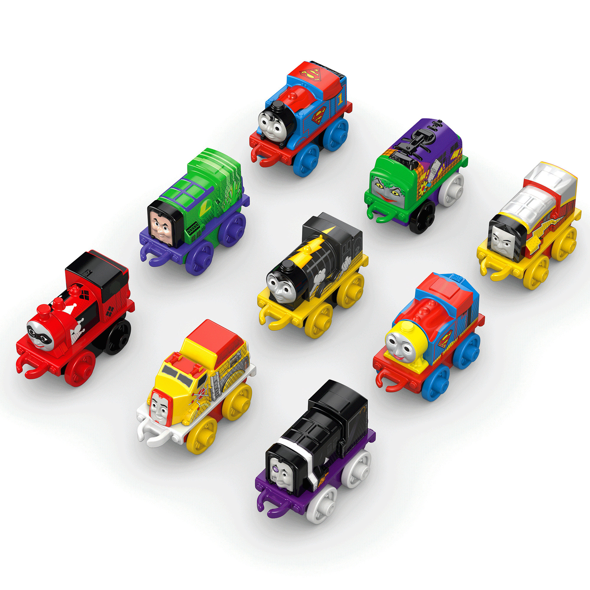 Fisher-Price Thomas the Train Minis DC Super Friends Character 9-Pack #1
