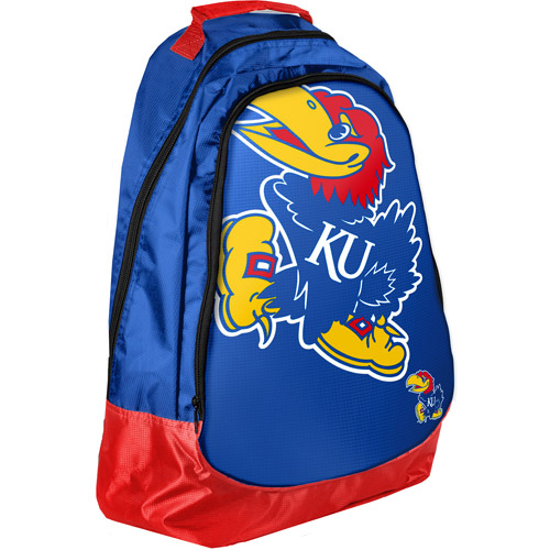 NCAA - Forever Collectibles Core Structured Backpack, University of Kansas Jayhawks