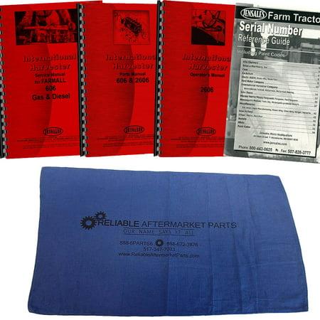 Case International Repair Manual - New Tractor Manual Kit For Case IH International Harvester 606 Gas and Diesel