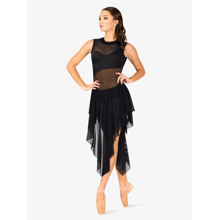 Stone Dress Clip - Womens Performance Asymmetrical Mesh Tank Dress