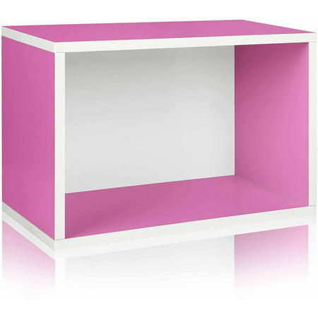 Way Basics Eco Stackable Shelf and Shoe Rack, Pink