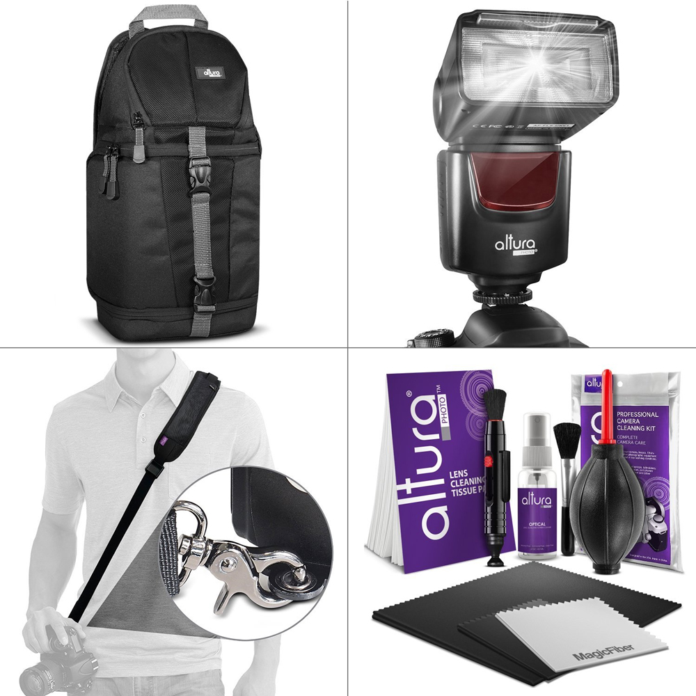 Altura Photo Dslr Pro Accessory Bundle W Universal Flash Neck