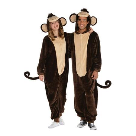 Plus Size Sock Monkey Costume (Zipster Monkey Plus Size)