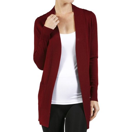 Women's Long Sleeve Knit Rib Open Front Solid Sweater Cardigan-Plus Size Available (FAST & FREE SHIPPING) Rib Knit Boatneck Sweater