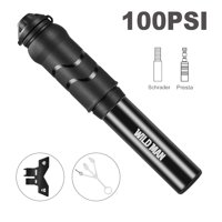 Mini Bike Pump - 100PSI Pressure Portable Tire Air Pump Durable Cycling Inflator, Suitable for Schrader Valve and Presta Valve