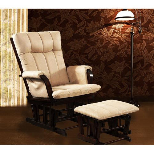 Artiva USA Home Deluxe Glider Chair And Ottoman