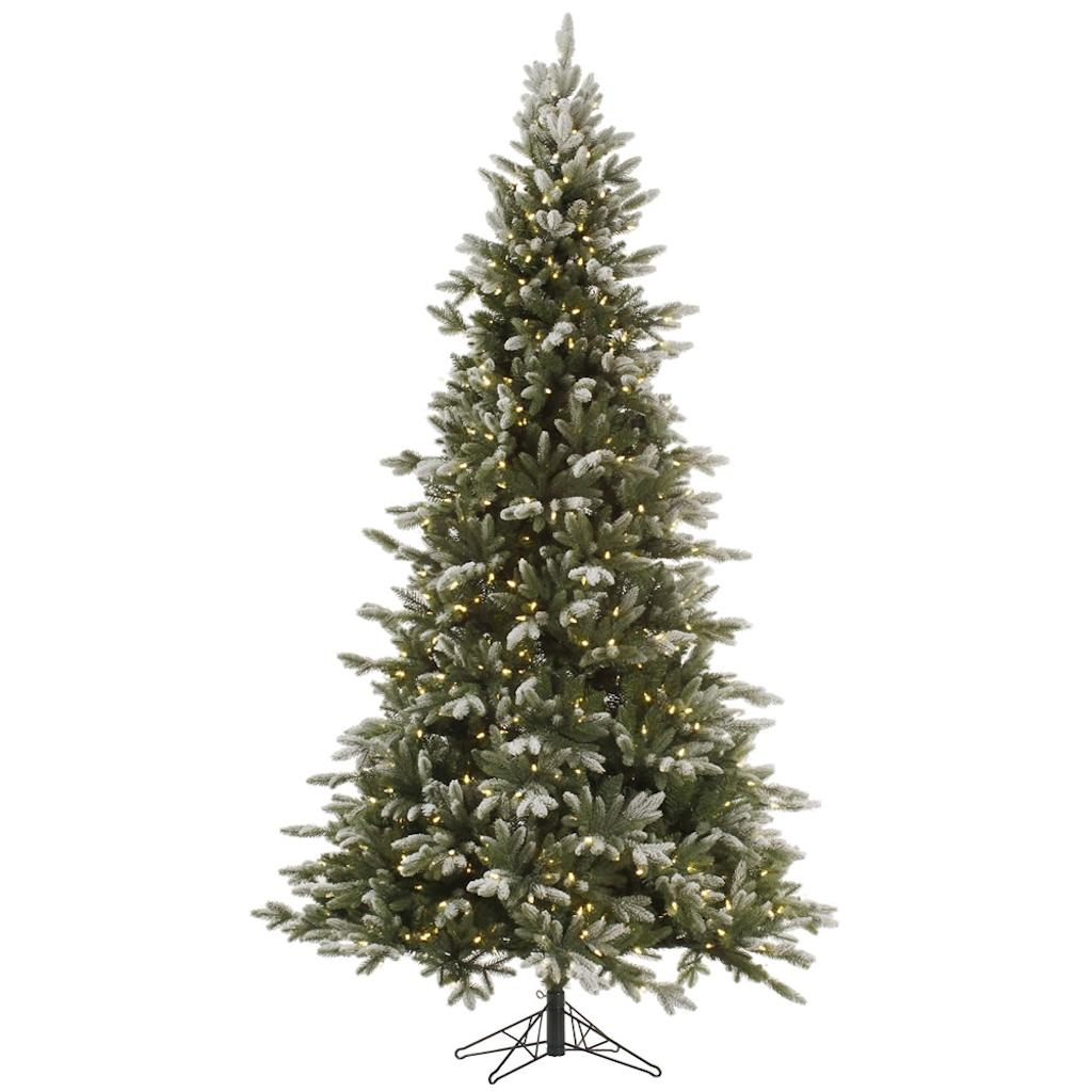 "Vickerman 364987 - 14' x 94"" Frosted Balsam Fir Tree with 2,600 Warm White LED Lights Christmas Tree (A141696LED)"