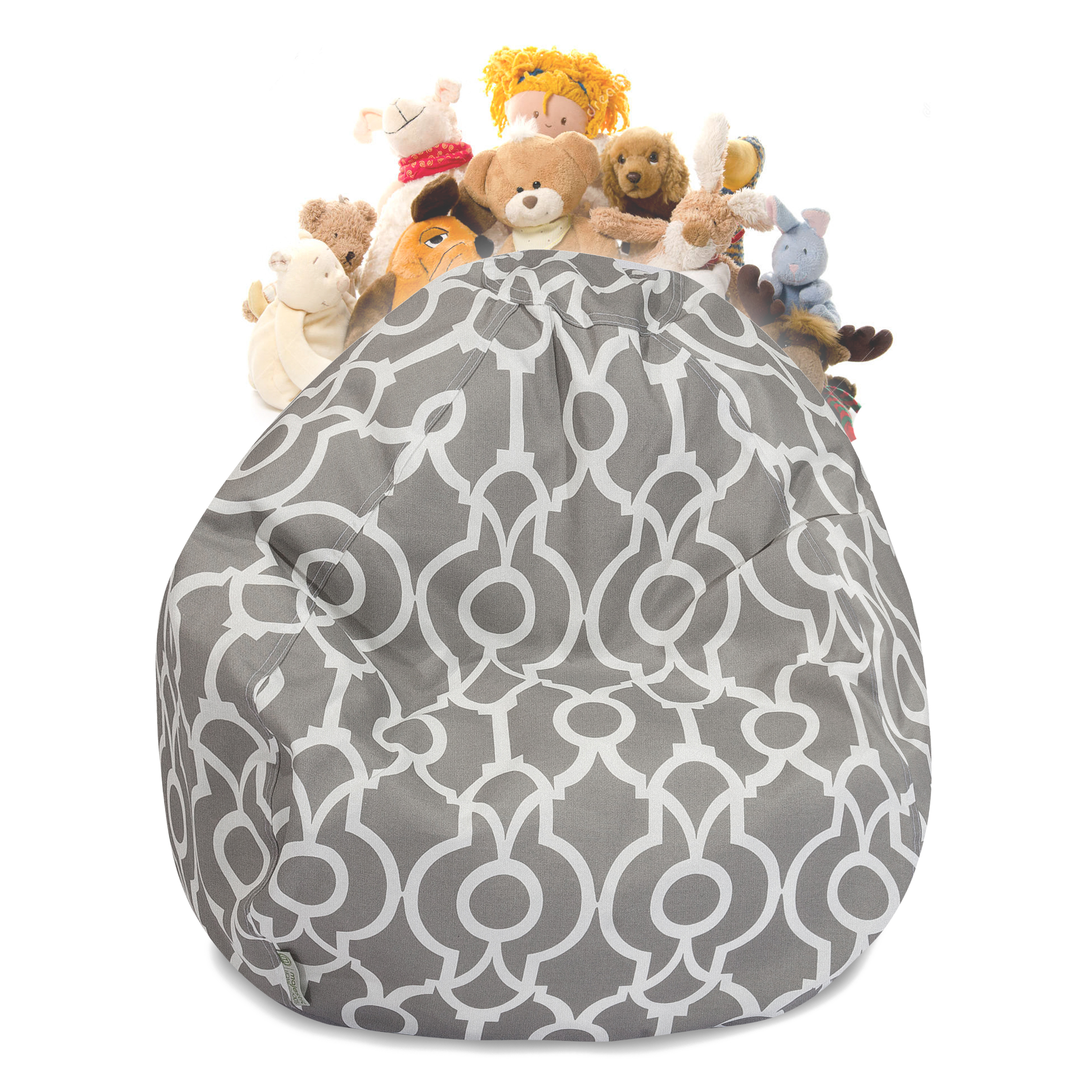 Majestic Home Goods Athens Stuffed Animal Storage Bean Bag
