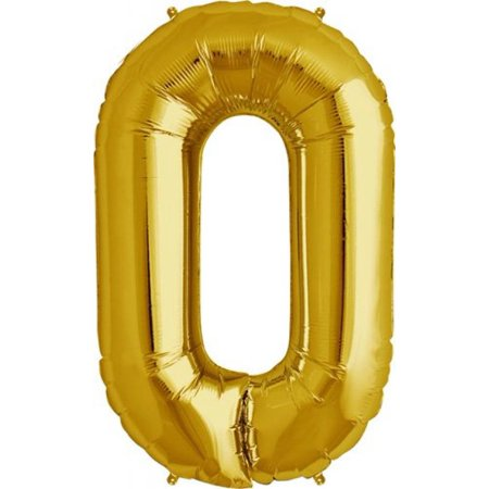 Letter O - Gold Helium Foil Balloon - 34 inch