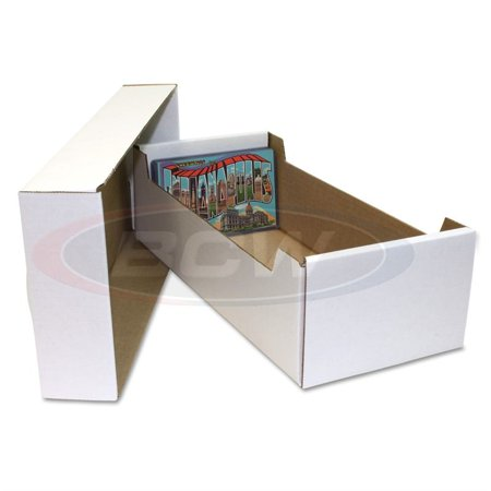 x1 BCW POSTCARD STORAGE BOX - Holds 700 4 x 6 POSTCARDS or 150 toploaders 4 X 6 Photo Storage Boxes