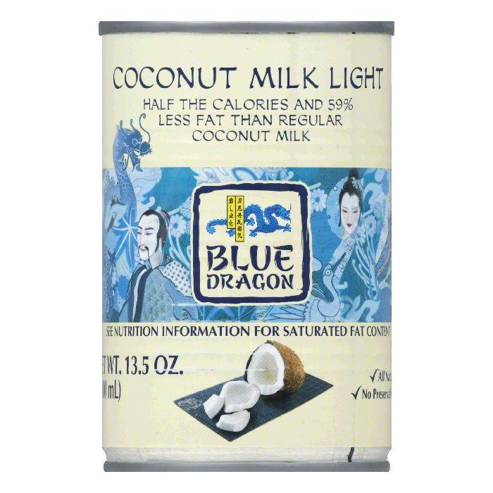 Blue Dragon Light Coconut Milk, 13.5 OZ (Pack of 12) by