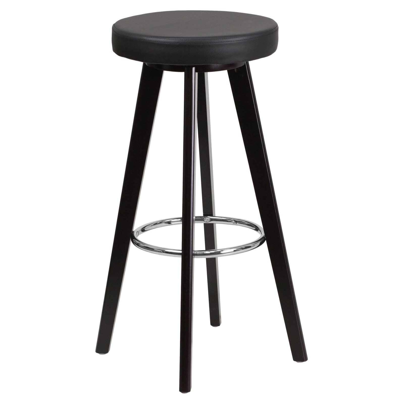 Flash Furniture Trenton 30 in. Contemporary Backless Legged Vinyl Bar Stool