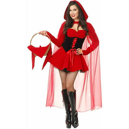 Velvet Riding Hood Women's Adult Halloween Costume - Ellen On Halloween